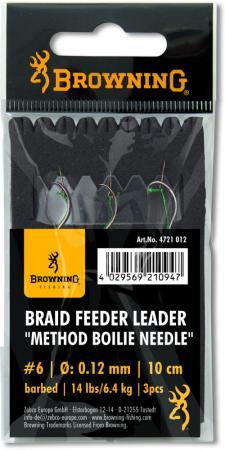 Browning Braid Feeder Leader Method Boilie Needle